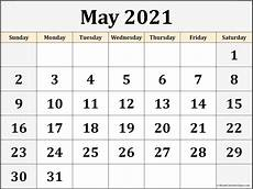 Printable Calendar May May 2021 Calendar Free Printable Monthly Calendars