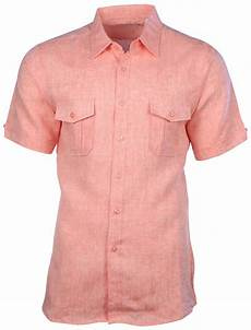 mens two pocket sleeve shirts mojito collection s linen 2 pocket sleeve button