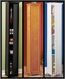 narrow wooden cabinet storage shelves wood