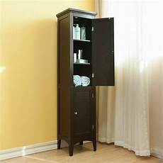 linen tower cabinet organizer storage shelves doors