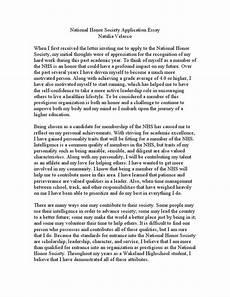 Essay Society National Honor Society Application Essay Samples