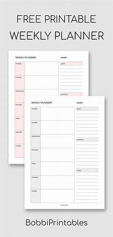 Simple Weekly Planner Simple Weekly Planner Printable Weekly Planner Printable