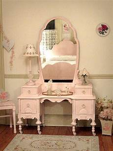 beautiful antique pink vanity with bench not a big pink