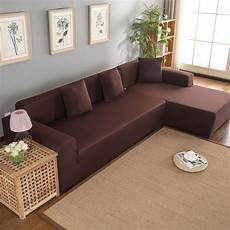 L Shaped Sectional Sofa Covers 3d Image by L Shape Sofa Covers Polyester 3 2 Seat Corner Sofa Cover