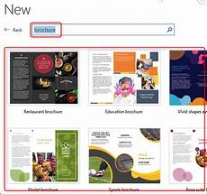 Free Brochure Templates For Word 2010 How To Create A Brochure In Microsoft Word
