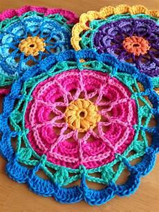 da s crochet connection colorful flower mandalas