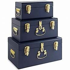 beautify set of 3 navy blue vintage metal