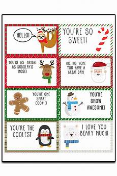 Printable Christmas Note Cards Christmas Lunch Notes Free Printable Lunchbox Notes