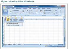 Excel Web Query Using Excel Web Queries To Retrieve Data