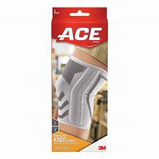 ace knee compression sleeve ace large knitted knee brace with side stabilizers 207355