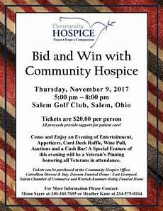 bid and win bid and win poster 2017 jpg community hospice