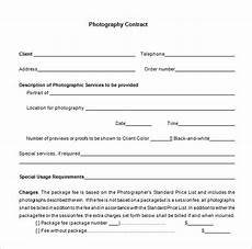 Contract For Photography Services Template Commercial Photography Contract Merrychristmaswishes Info