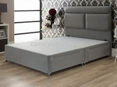 wool fabric divan bed base grey or silver 4ft6