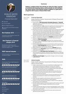 The Best Resume Sample Financial Specialist Resume Samples And Templates Visualcv