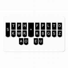 Steno Machine Keyboard Chart Court Reporter Black Steno Machine Keys Cards Business