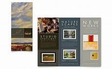 Art Gallery Brochure Design Art Gallery Amp Artist Tri Fold Brochure Template Design