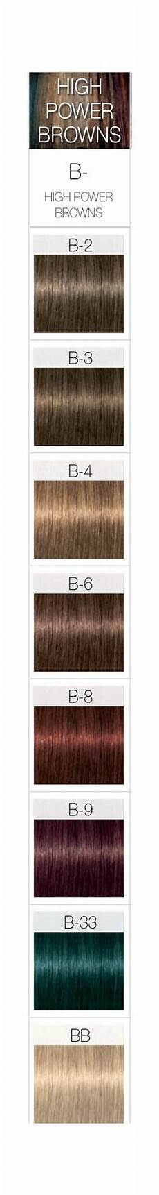 Igora High Power Browns Color Chart From Brassy Gold To Light Ash Champagne Highlights