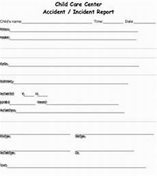 Childcare Incident Report Download Child Care