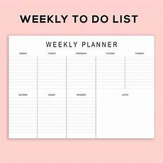 Weekly Business Planner Printable Landscape Weekly Planner To Do List Pad A4 Size