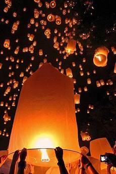 Lanterns And Lights At Chiang Mai Road Loy Krathong Festival Of Light Chiang Mai Thailand Img