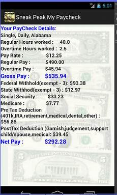 Tax Off Paycheck Calculator Amazon Com Paycheck Calculator Salary Or Hourly Plus