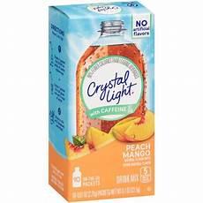 Crystal Light Energy Peach Mango Crystal Light On The Go Drink Mix Peach Mango 07 Oz 10