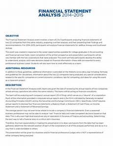 Financial Statement Analysis Example Standard Financial Statement Analysis Example