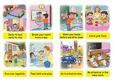 Good Habits Chart For School Pin By Agata Rutkowska Mandava On Health Safety And