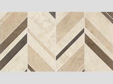 Daltile Limestone Collection Fusion Brun Large Chevron (honed) DA18 Natural Stone Floor and Wall