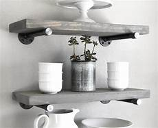 Light Grey Floating Shelves Gray Wash Floating Shelves Wall Floating 7 25 Deep Etsy