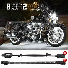 Motorcycle Led Light Kit 8 Pod 2 Custom Motorcycle 12v Led Neon Accent Light