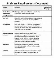 Sample Business Requirements Document Sample Business Requirements Document 6 Free Documents