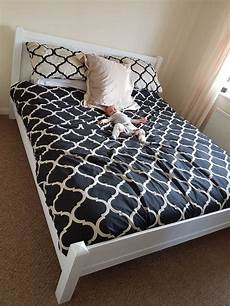 our white solid wood bed frame 6ft superking