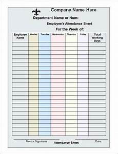 Sample Of Attendance Register 8 Work Attendance Register Examples Pdf Examples