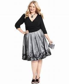 Sl Fashions Dress Size Chart Sl Fashions Plus Size Dress Three Quarter Sleeve Ruched