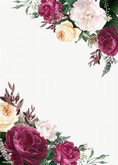 Flower Design For Cards Floral Design Wedding Invitation Mockup Royalty Free