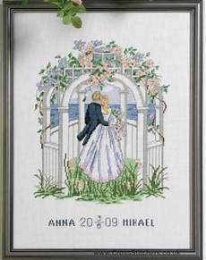 Free Wedding Cross Stitch Patterns Charts Free Wedding X Stitch Patterns Wedding Samplers