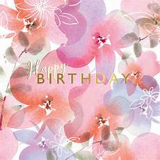 Happy Birthday Image For Her Pink Posies Birthday Card Free Greetings Island