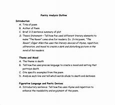 Poem Outline Sample Poetry S Analysis Template 9 Free Documents In Pdf