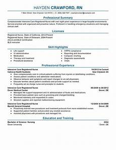 Rn Skills Resumes Unforgettable Intensive Care Nurse Resume Examples To