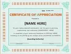 Certificate Of Appreciation Doc Certificates Of Appreciation Templates For Word