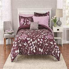 mainstays kamala bed in a bag coordinated bedding purple