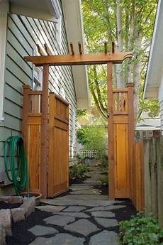 Backyard Gate Design Ideas Craftsman Pergola Style Gate And Fence Garden Gates And