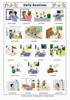 Daily Routines Flashcards For Autistic Children Teaching