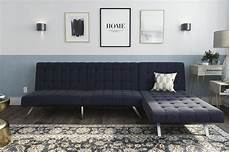 dhp emily sectional futon sofa bed with convertible chaise