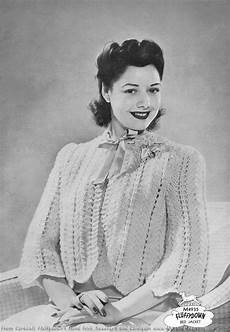 the vintage pattern files 1940 s knitting bed jacket