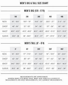 James Men S Size Chart Size Amp Fit Andrew Marc