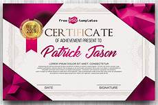 Free Editable Certificate Templates Download This Free Certificate Psd Template Designhooks