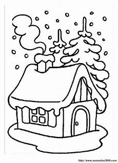 Ausmalbilder Haus Mit Schnee Haus Im Schnee Malvorlage Coloring And Malvorlagan