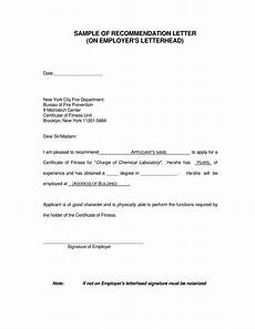 Letter Of Recommendation From Former Employer Best Recommendation Letter From An Employer Templates At